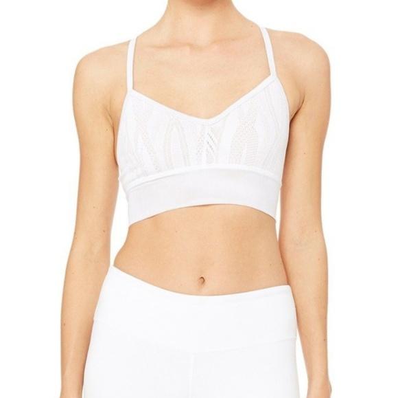 1f951c49508 ALO Yoga Other - Alo yoga aria lace mesh sports bra white nude